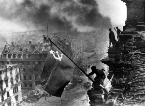 Sovietisk flag overRigsdagen
