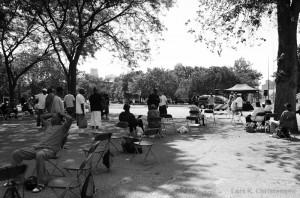 Møde i parken
