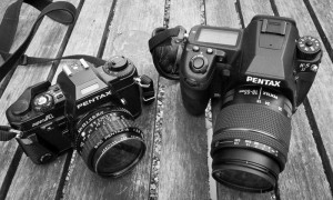 Pentax K-5 II and Pentax Super A