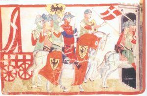 Frederik II med krigsfane